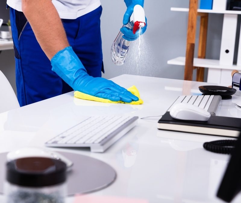 desinfectar oficinas cuarentena