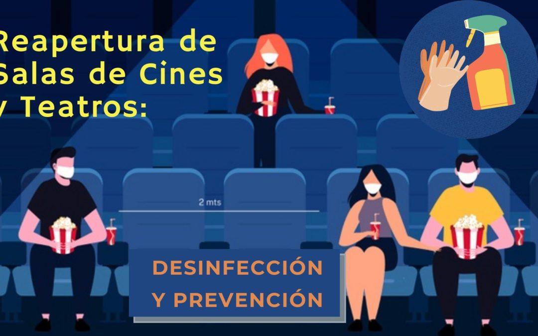Reapertura de Salas de Cines y Teatros: Desinfección y Prevención