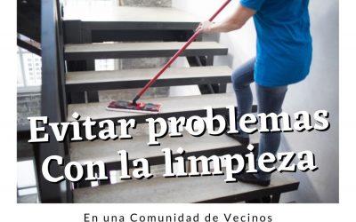 Cómo evitar problemas con la limpieza de escaleras en la comunidad