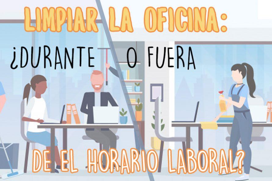 Limpiar la Oficina: ¿dentro o fuera del horario laboral?