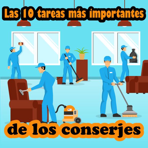 Las 10 tareas principales de los conserjes