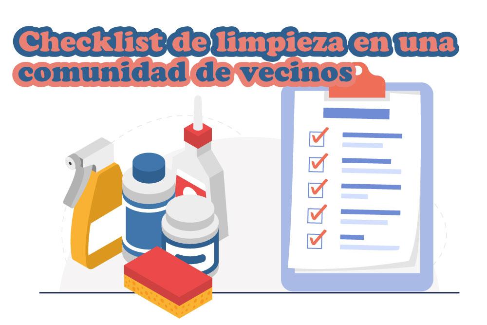 Checklist de limpieza en una comunidad de vecinos