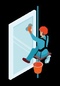 limpieza de ventanas en oficinas